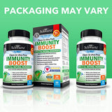 Immunity Boost Supplement with Elderberry, Vitamin A, Echinacea & Zinc