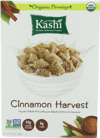 Kashi Cinnamon Harvest Cereal, Organic, Non GMO, 16.3 oz, Pack of 3