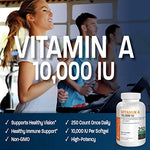 Bronson Vitamin A 10,000 IU (250 Softgels)