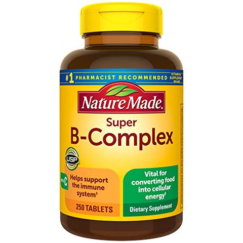 Nature Made Super B-Complex Tablets with Vitamin C (250 Count)