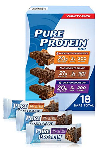 Pure Protein Bars, High Protein, Nutritious Snacks (18 Pack)