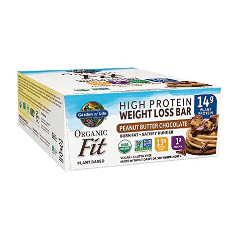 Garden of Life Organic Fit Bar Peanut Butter Chocolate (12 per carton)