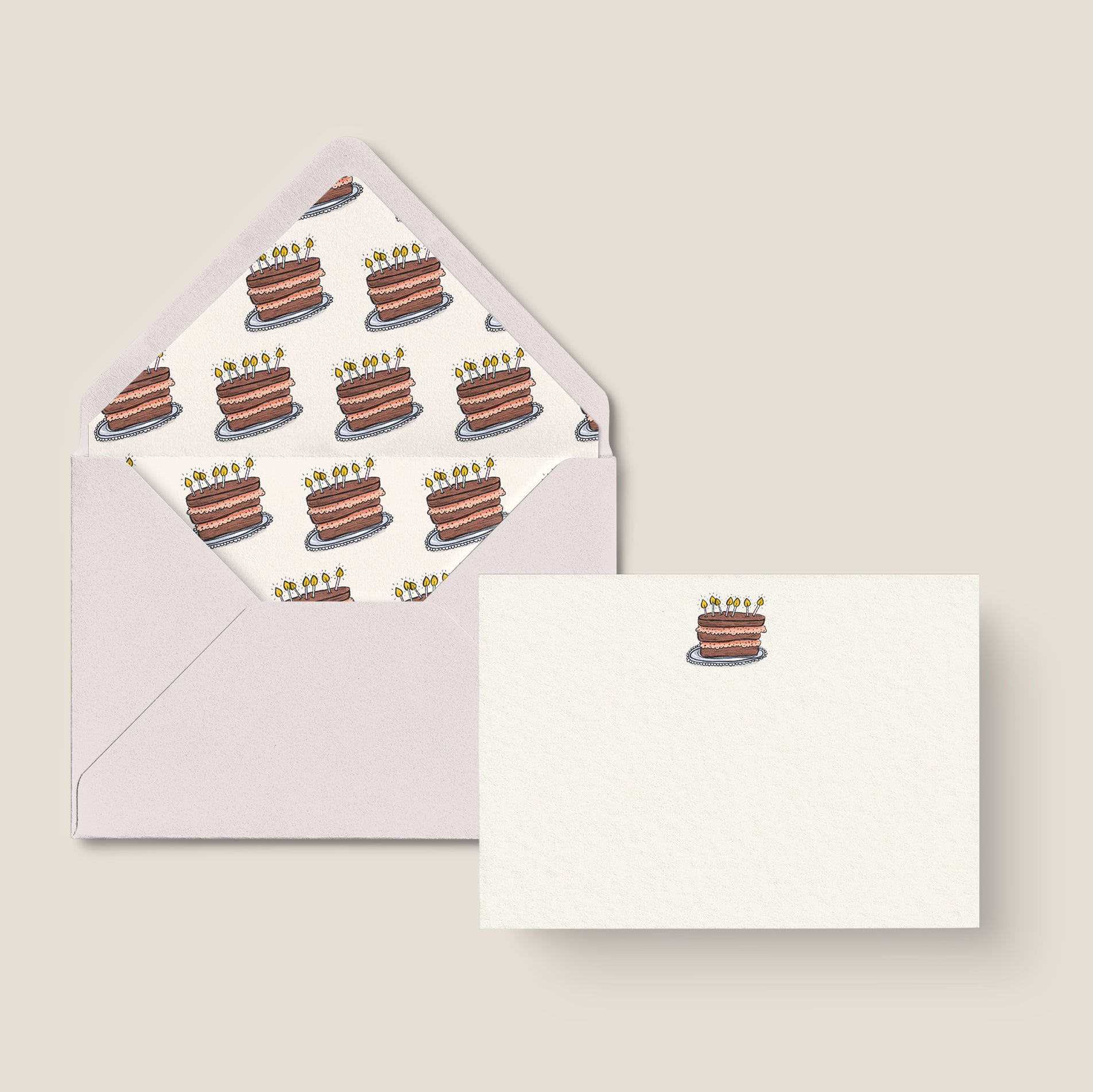 'BIRTHDAY CAKE' NOTE CARD