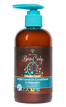 As I Am Born Curly Argan Leave-In Conditioner & Detangler - Blacktivity Beauty Supply