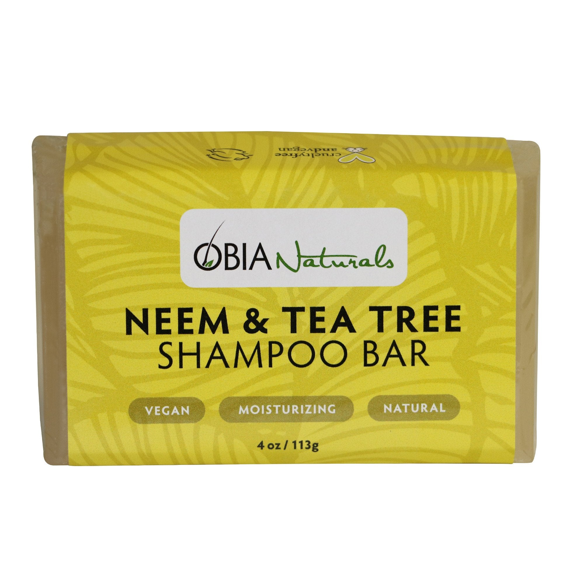 OBIA Shampoo Bar-Neem & Tea Tree - Beauty Bar & Supply