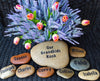 Newlywed Gift - Garden Decor Rock - Housewarming Gift - Engraved Heart - Love Garden Stone - Garden Art - God Rocks - First Home Gift