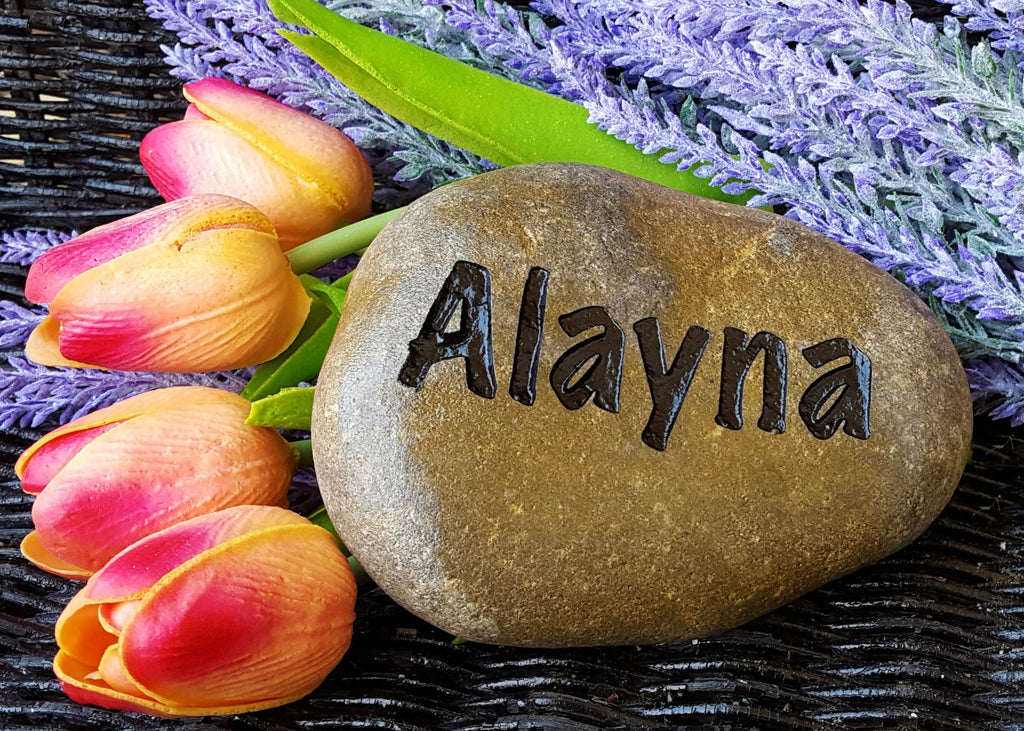 Custom Personalized Engraved Name Garden Stone