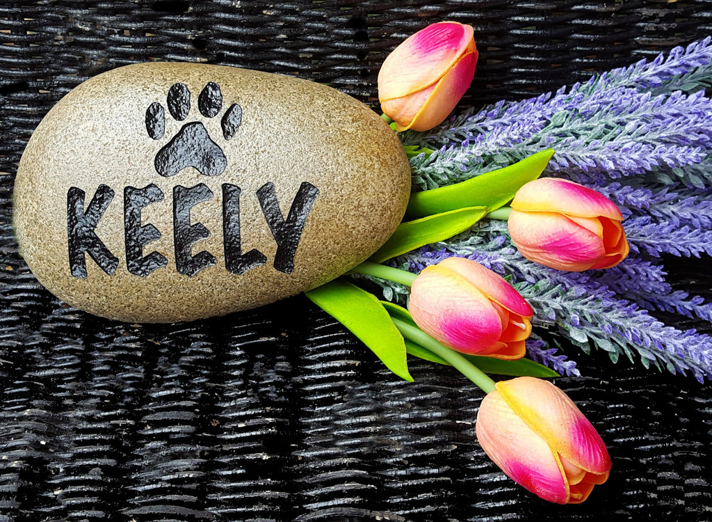 Pet Memorial - Memorial Marker - Garden Memorial - Personalized Pet Memorial - Cat Memorial Stone - Engraved Dog Memorial - God Rocks