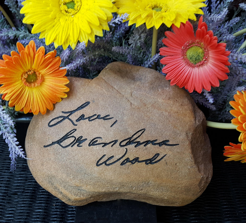 Custom Hand Written Father's Day Gift, Personalized Yard Stone, God Rocks, Garden Stone, River Rock, Actual Handwriting