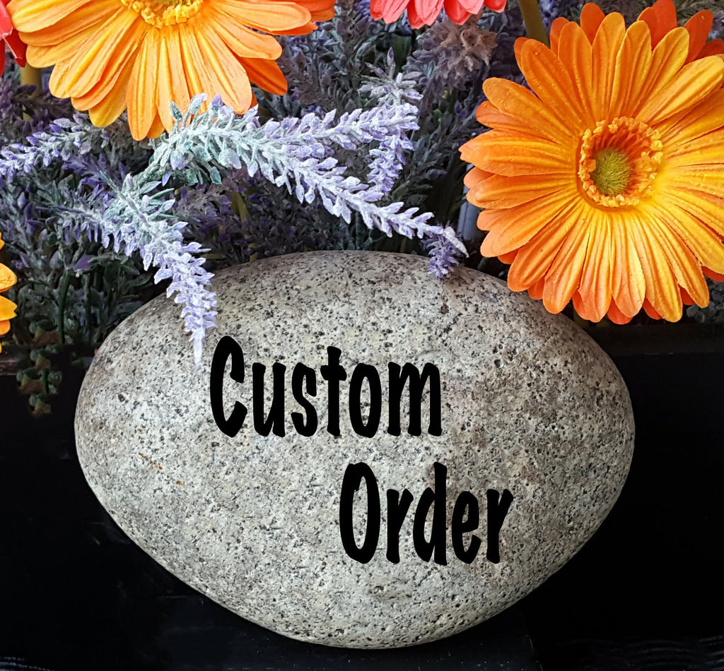 Koi Fish - Pet Memorial Marker - Japanese Koi Fish - Personalized Pet Memorial - Fish Memorial Stone - Engraved Memorial Fish - God Rocks