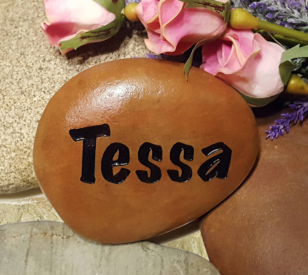 Mother's Day Gift for Grandma - Grandkids Rock - Name Rocks for Garden - Personalized Garden Stone - Custom Stone Engraving - God Rocks