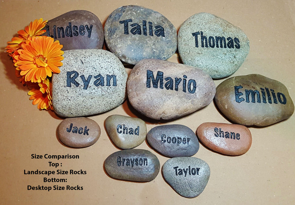 My Grandkids Rock Set - 11 to 15 Names - Gift for Mom - Personalized - Landscape  - Engraved Stones - Custom Gift - God Rocks