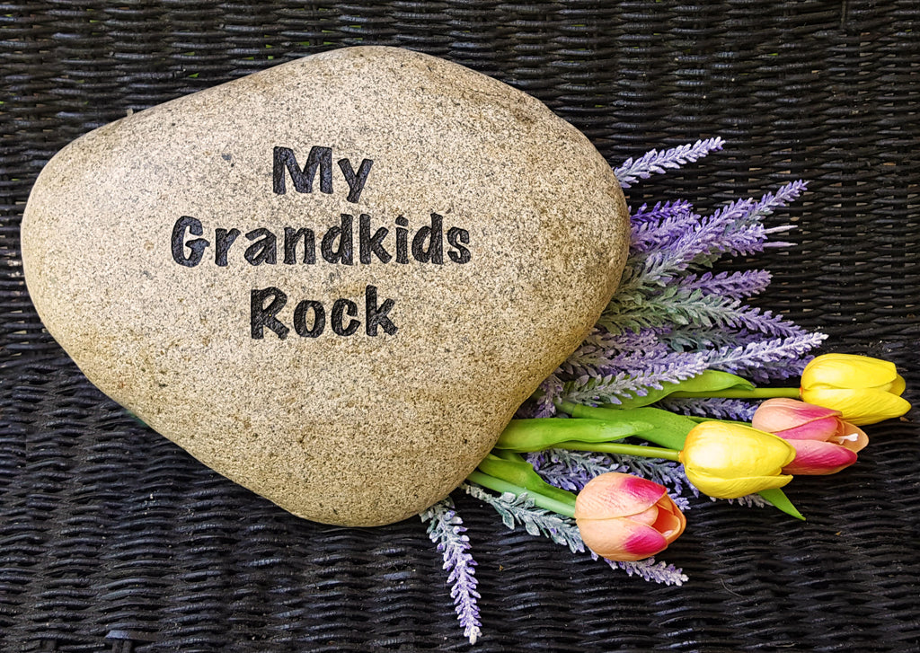 Mother's Day Gift for Grandma - Personalized Garden Rocks - Engraved Stone - Landscape Rock -Engraved Name Rock - Garden Stone - God Rocks