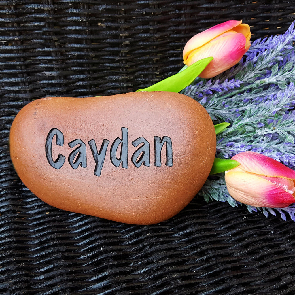 Personalized Garden Stone - My Grandkids Rock - Engraved Rock - Personalized Rock - Custom Garden Stone - Name - Garden Rock - God Rocks