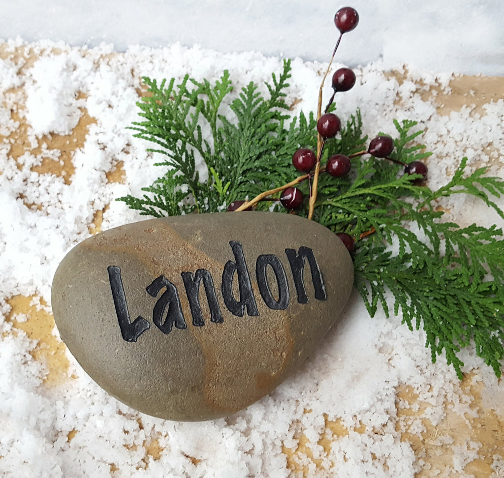 Gift for Grandma - Personalized Gift - Name Rocks for Garden - Personalized Grandma Gift - Custom Stone - Stone Engraving - God Rocks
