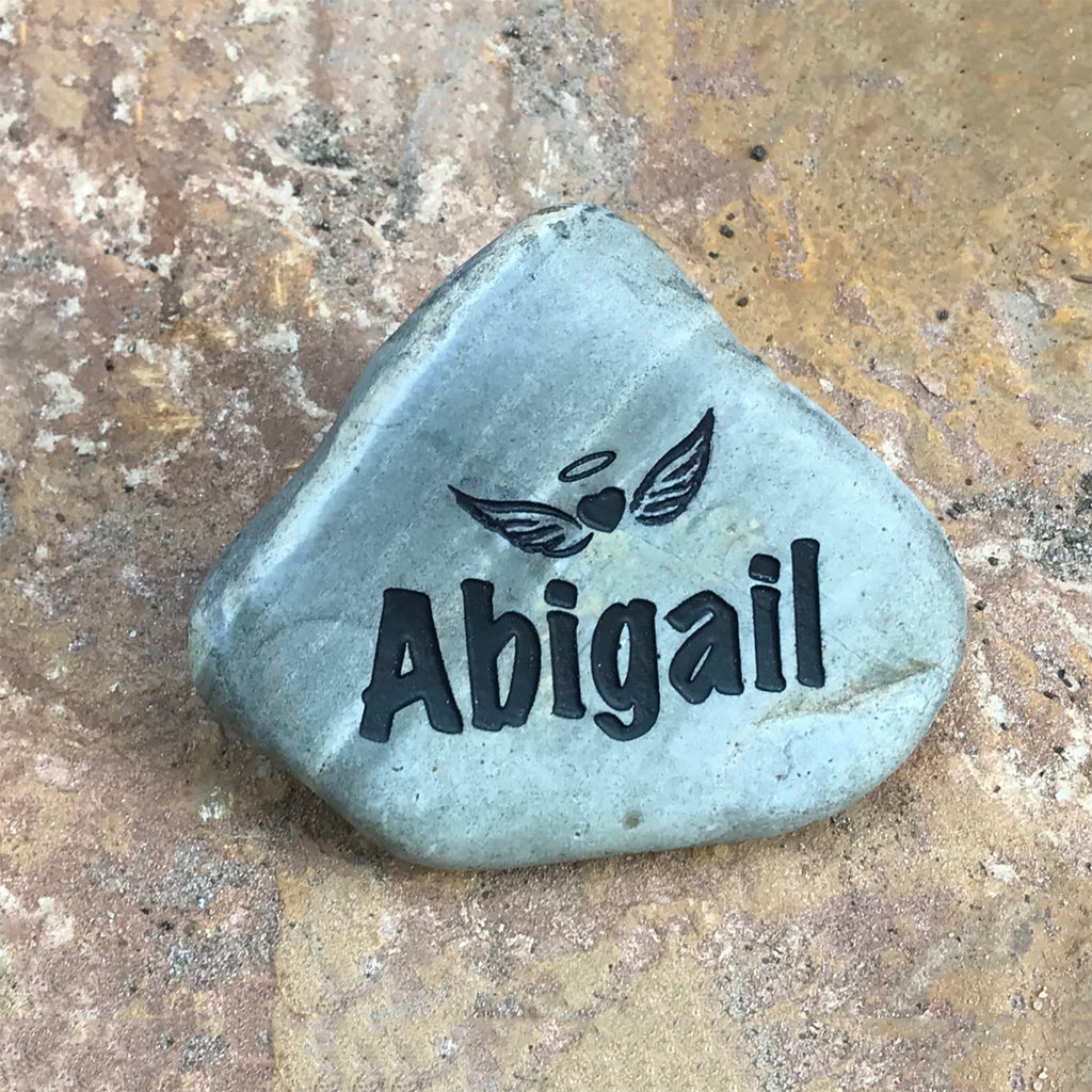 Pregnancy Loss  Angel Baby Personalized Memorial Rock God Rocks