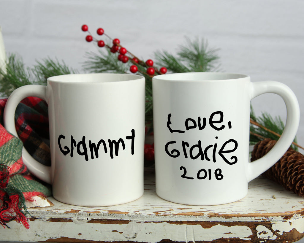 Child Handwriting Custom Gifts for Mom Personalized Coffee Mug Gifts for Grandma