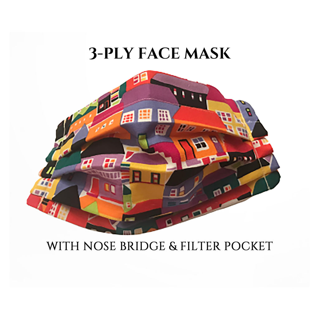 Realtor Mask, Real Estate Face Mask with Pocket, Washable Face Mask, Reusable, Pleated Face Mask Nose Bridge Piece, God Rocks
