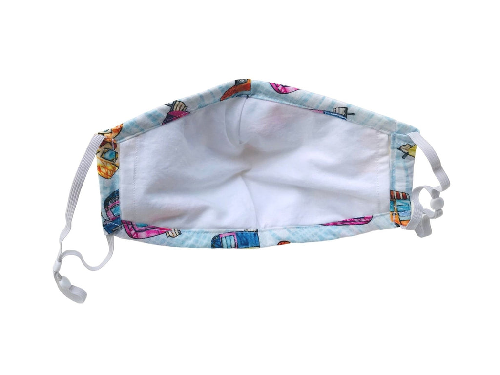 Fitted 3 Ply Cotton Reusable Adjustable Face Mask