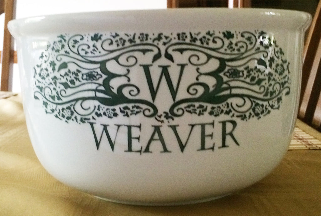 Monogrammed Sand Etched Serving Bowl | 9th Anniversary-Christmas-Wedding-Housewarming-Gift | 1 1/2 Gallon Serving Bowl