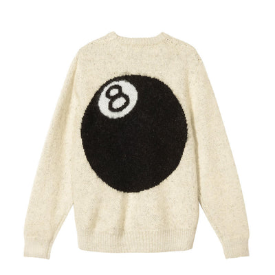 STUSSY - 8 BALL HEAVY BRUSHED MOHAIR SWEATER