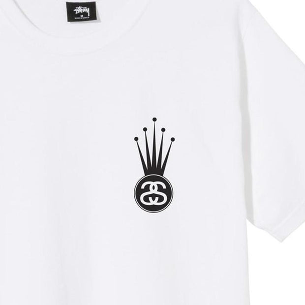 STUSSY - CROWN LINK TEE WHITE