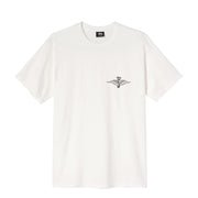 STUSSY - SKULL WINGS PIG DYED TEE NATURAL