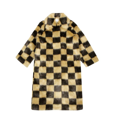 STAND STUDIO - NINO COAT BEIGE/BROWN CHECK