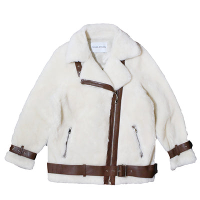 STAND STUDIO -  COLLEEN JACKET OFF WHITE BROWN