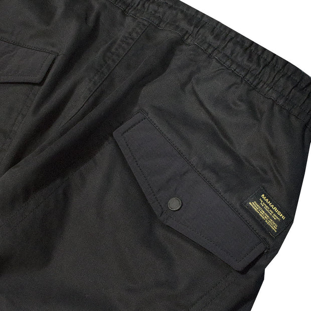 MAHARISHI - WOVEN CARGO TRACKPANTS · MIL SPEC CELLULOSE BLACK