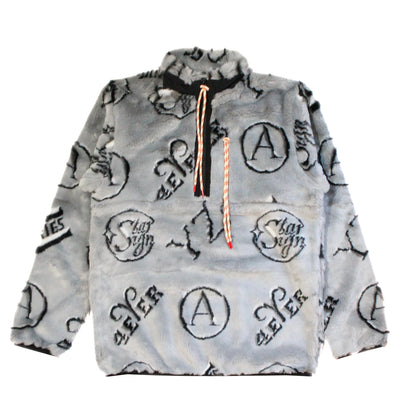 ARIES - MONOGRAM HALF ZIP FLEECE
