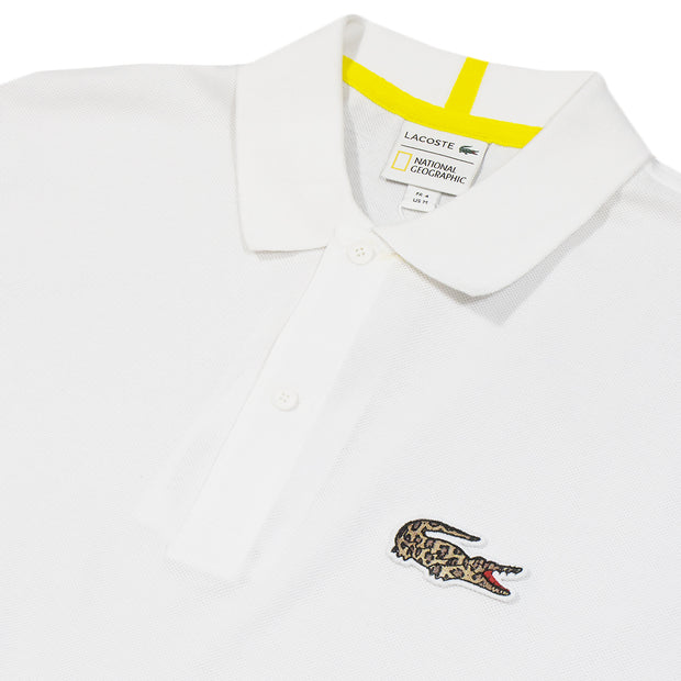 NATIONAL GEOGRAPHIC x LACOSTE - LEOPARD PATCH POLO