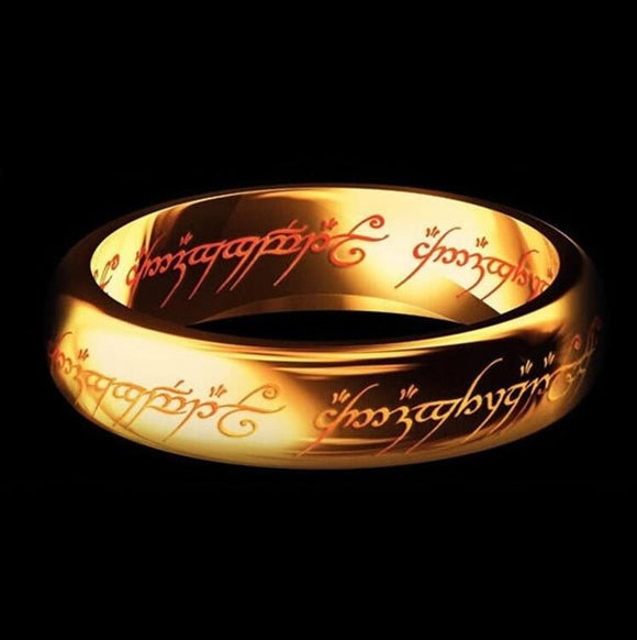 The Lord of the Ring Black Silver Gold Titanium Stainless Steel Ring