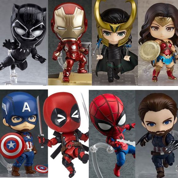 Marvel Nendoroid Avengers Infinity War Thor Captain America Iron Man Black Panther Wonder Woman Spiderman Action Figure