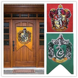 Harri Potter Magic Tricks College Flag Banners Gryffindor Slytherin Hufflerpuff Home Party Decoration Toys For Children