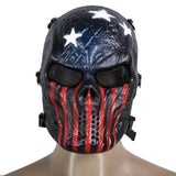 Mask Paintball Full Face Mask Army Games Mesh Eye Shield Mask Halloween