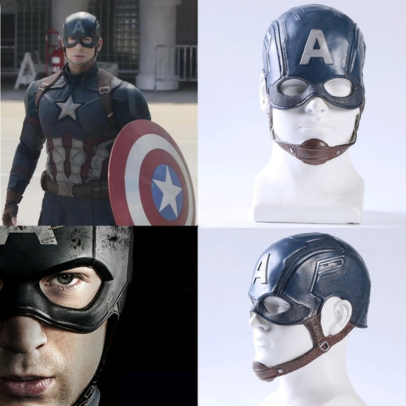 Captain America Cap Latex Simulation Cos Mask