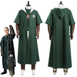 Slytherin Green Quidditch Cosplay Costume Magic Shool Uniform Outfits Halloween Carnival Suits