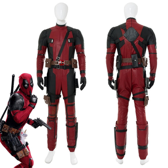 Deadpool 2 Wade Winston Wilson Cosplay Costume Full Set Adult Men Halloween