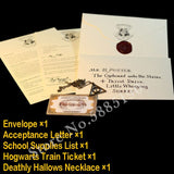 Replica HarryPotter Marauder's Map Harried Hogwart, Admission Letter Platform 9 3/4 Ticket Deathly Hallows Necklace Gryffindor Slytheri Tie