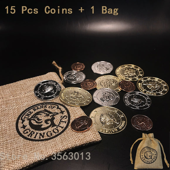 Replica Harry Potter Bank Coins Collection 16 Pcs/set