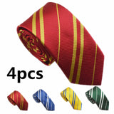 4PC Child&adult Potter Necklace Hermione Boy Girl  School Scarf Tie Cosplay Kids Women Men Halloween New Year  Gift  Hot  Sale