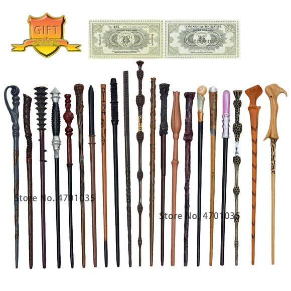 34 Kinds of Metal Core Potters Magic Wands Cosplay Voldmort Hermione Magical Wand Harried 2 Hogwarts ticket as Bonus without Box