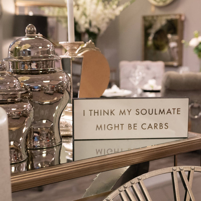 Carbs Soulmate Gold Foil Plaque