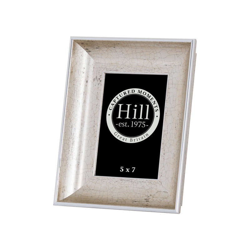 Antique Silver Crackled Effect Photo Frame 5X7