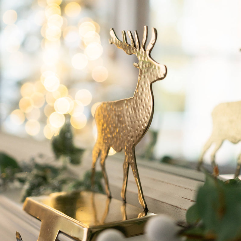 Brass Stag Stocking Holder