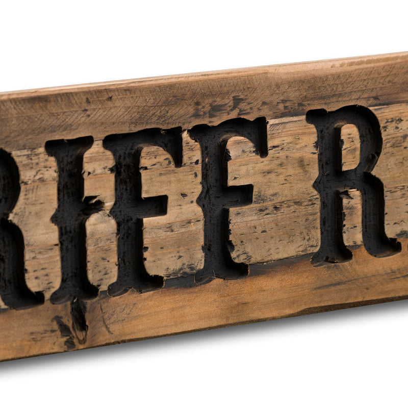 No Riff Raff Rustic Wooden Message Plaque