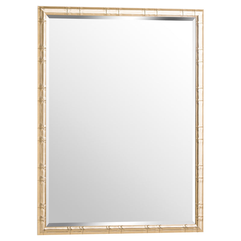 Soho Large Brass Framed Mirror