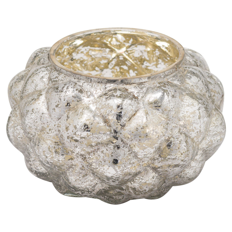 The Noel Collection Medium Silver Foil Votive Candle Holder