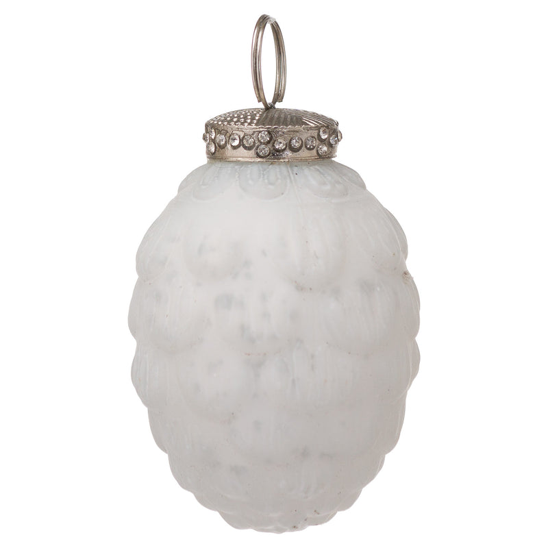 The Noel Collection White Hanging Acorn
